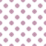 Colored pattern with decorative symmetric ornaments Royalty Free Stock Image