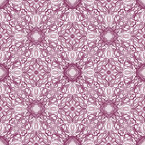 Colored pattern with decorative symmetric ornaments Stock Photography