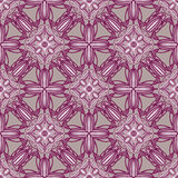 Colored pattern with decorative symmetric ornaments Stock Images
