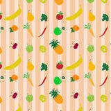 Colored pattern with fruits and vegetables2 Royalty Free Stock Photography
