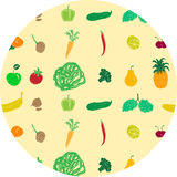 Colored pattern with fruits and vegetables Royalty Free Stock Image