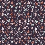 Colored pattern on leaves theme. Autumn pattern Stock Photo