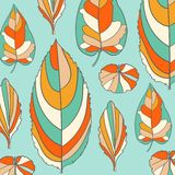 Colored pattern on leaves theme. Autumn pattern Stock Images