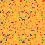 Colored pattern with letters of alphabet Stock Photos