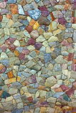 Colored Pattern of old stone Wall Surfaced Royalty Free Stock Images