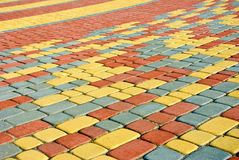Colored pavement as background Stock Photo