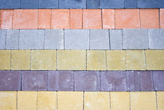 Colored pavement as background Royalty Free Stock Photo