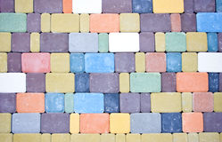 Colored pavement Royalty Free Stock Photos