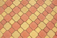 Colored pavement pattern Stock Image