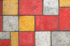 Colored paving slab texture #1. Bright colored paving slab texture/background #1 Royalty Free Stock Photography