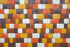Colored paving slabs Royalty Free Stock Photos