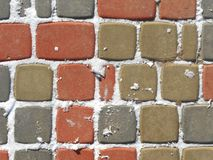 Colored paving stones Stock Image