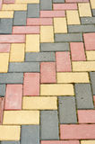 Colored paving Royalty Free Stock Images