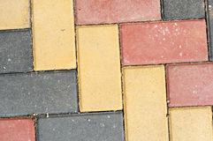 Colored paving Royalty Free Stock Photo