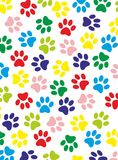 Colored paws. Differently colored paws for example as a background Royalty Free Stock Images