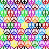 Colored peace pattern Stock Photo