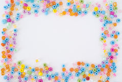 Colored pearls background Royalty Free Stock Photos