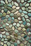 Colored pebbles path Stock Image