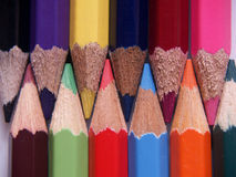 Colored pecils. Royalty Free Stock Photos