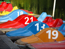 Colored pedal boats Royalty Free Stock Image
