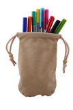 Colored pen. In the bag Royalty Free Stock Photo
