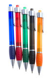 Colored pen on white background Stock Photos