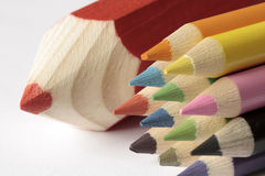 Colored pencil. Color pencil has brought us a beautiful picture Stock Photography