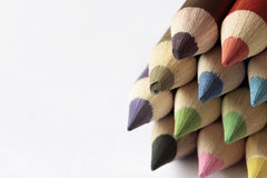 Colored pencil. Color pencil has brought us a beautiful picture Royalty Free Stock Photo