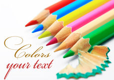 Colored Pencil. Colored pencils on white background Stock Image