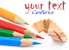 Colored Pencil. Colored pencils on white background Royalty Free Stock Photos