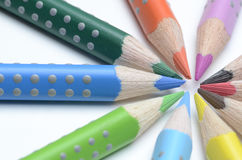 Colored pencil. On white background Stock Image
