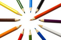 Colored pencil. With clipping(work) path - isolated stock images