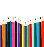 Colored pencil arrangement Royalty Free Stock Photography