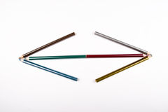 Colored pencil arrow Royalty Free Stock Image