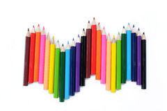 Colored pencil background Stock Photography