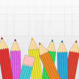 Colored pencil border Royalty Free Stock Photography