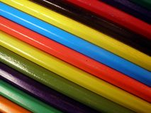 Color pencils form abstract lines pattern royalty free stock image