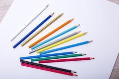 Colored pencil. On white background Royalty Free Stock Photography