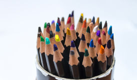 Colored pencil container Stock Photo