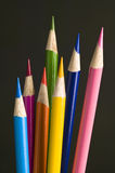 Colored pencil crayons Stock Photography