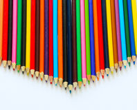 Colored pencil display Royalty Free Stock Photo