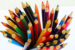 Colored pencil display Royalty Free Stock Images