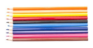 Colored pencil isolated on white Stock Images
