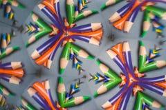 Colored Pencil Kaleidoscope Stock Photos