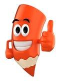 Colored Pencil Mascot Royalty Free Stock Photo
