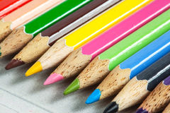 Colored pencil close up Royalty Free Stock Photography