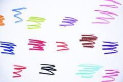 The colored pencil`s strokes. vector illustration