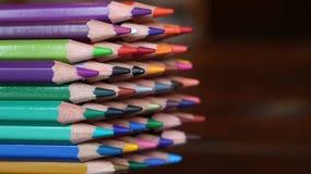 Colored Pencil Set Stock Image