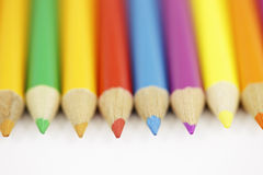 Colored Pencil Set. Close-up Stock Photo