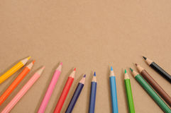 Colored Pencil Sets frame Royalty Free Stock Photos